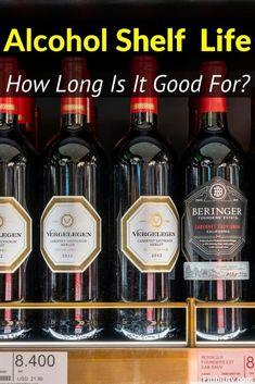 Alcohol Shelf Life: Can It Go Bad? #Alcohol #liquor #fitibility Malibu Coconut, Coconut Rum, Food Shelf Life, Oldest Whiskey, Cream Liqueur, Wine Shelves, Vintage Champagne, Baileys Irish Cream, Alcohol Content