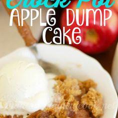 Crock Pot Apple Dump Cake