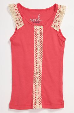 Peek 'Estella' Crochet Trim Tank (Toddler, Little Girls & Big Girls)