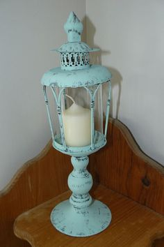 Home Decor Metal candle holder Cottage Chic by BlessfilledHome,