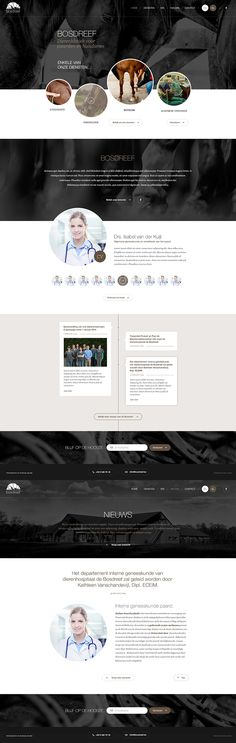 #webdesign for an animal clinic! #layout #design by www.weblounge.be