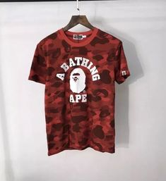 172f28e56a3e Men s Bape t Shirt Camo Shark A Bathing Ape Tee Shirt US Size Authentic   fashion
