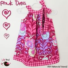 fairytale frocks and lollipops::pink dress, lily bird studio, e-pattern, downloadable sewing pattern, pdf sewing pattern