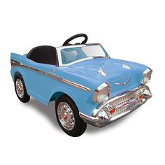 Kid Motorz Chevy Bel Air 1-Seater 12-Volt Ride-On in Blue | Bed Bath & Beyond Pink Chevy, Diy Playhouse, Backyard Playground, Air Ride, Outdoor Toys, Outdoor Baby, Outdoor Fun, Pool Toys, Ride On Toys