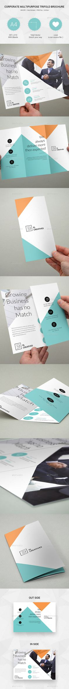 Minimal Creative Trifold Brochure Template #design Buy Now: http://graphicriver.net/item/minimal-creative-trifold-brochure-16/12850944?ref=ksioks