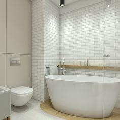 Mieszkanie w Lublinie - łazienka styl skandynawski