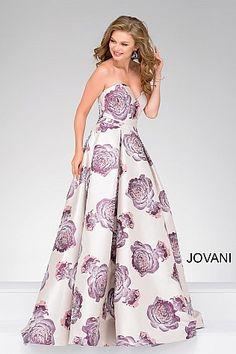 Blush Sweetheart Neck Floral Print Dress 48924