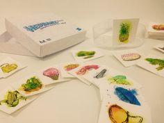 Juego de mesa Headbanz Técnica: Pluma y tinta china