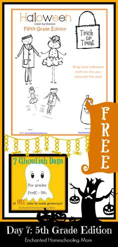Halloween Color By Division Fifth Grade Edition {FREE}