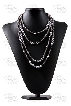 My Pacific Pearls | MARO REEF COLLECTION - Versatile Five Strand Gray Pearl Necklace $375 www.mypacificpearls.com