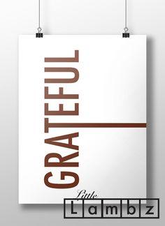 Grateful printable,Grateful print,modern thanksgiving,fall decor,thanksgiving decor,simple thanksgiving,thanksgiving home decor,#LL161 by LittleLambz on Etsy