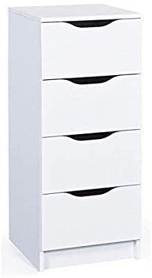 13 Casa Genova A3 Sinfonier De 4 Cajones Blanco 40 X 40 X 92 Cm Amazon Es Hogar Muebles Auxiliares Muebles Cajones