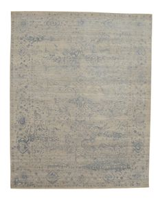 Luke Irwin - Blue Floral, persian hand knotted wool and silk