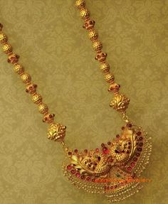 17 Indian Jewellery and Clothing: Beautifully crafted gold temple jewellery studded with rubies and emeralds from Anmol Jewellers. Gold Temple Jewellery, Gold Jewellery Design, Gold Jewelry, Quartz Jewelry, Light Weight Gold Jewellery, Jewellery Bracelets, Bangles, Gold Necklaces, Handmade Jewellery