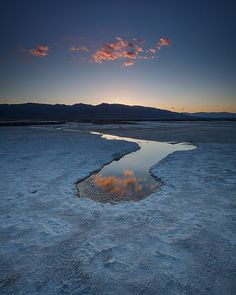 Sunset Reflection, Death Valley National Park, CA