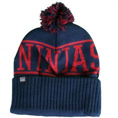 Rocksmith Fighting Ninjas Navy Beanie ($28) ❤ liked on Polyvore
