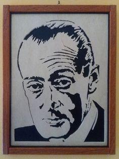 Antonio De Curtis in arte Totò. Quadro traforo legno di Trafart