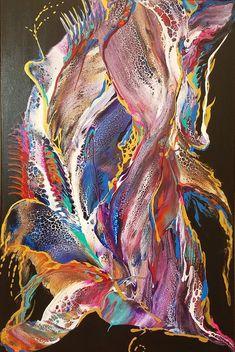Sandra Lett Trumpfheller Video Paint Pour Process