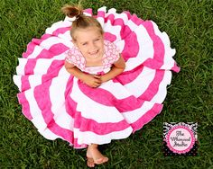 Buy Pink and White Twirl and Swirl Dress for Little Girls by thewhimsicalstudio. Explore more products on http://thewhimsicalstudio.etsy.com