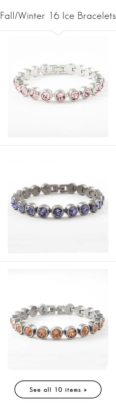 """""""Fall/Winter 16 Ice Bracelets"""" by touchstonecrystal ❤ liked on Polyvore featuring jewelry, bracelets, pink jewelry, crystal stone jewelry, pink crystal jewelry, antique jewellery, antique bangles, vintage bangles, tanzanite jewellery and vintage jewelry"""