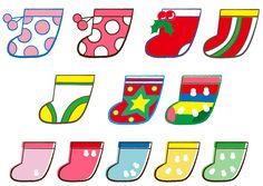 クリスマスはフワフワモコモコのかわいい靴下をぶら下げて イラスト