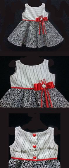 This Pin was discovered by bla Toddler Dress, Toddler Outfits, Kids Outfits, Infant Toddler, Frock Patterns, Baby Dress Patterns, Frocks For Girls, Kids Frocks, Fashion Kids