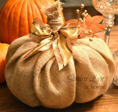 Make a Burlap Pumpkin- for almost nothing! How cute! ;)