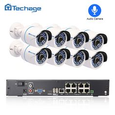 Cheap set security camera, Buy Quality set 2 directly from China set camera Suppliers: Techage Full HD NVR Kit POE CCTV System Outdoor IP Camera Waterproof Onvif Security Surveillance Set Wireless Home Security Systems, Security Camera System, Security Surveillance, Surveillance System, Camera Surveillance, Cctv Kits, Dvr Cctv, Digital Video Recorder, Video Security