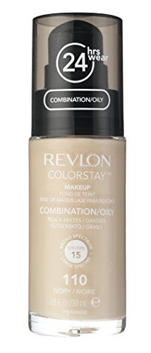 Revlon Colorstay Makeup For Combination/Oily Skin, Natural Beige, 1 Fl Oz. Contains patented ColorStay TM longwear technology for up to wear. Provides medium to full coverage with a semi-matte finish. No Foundation Makeup, Liquid Foundation, All Natural Makeup, Natural Skin, Best Long Lasting Foundation, Makeup Tips, Beauty Makeup, Liquid Makeup, Professional Makeup Artist