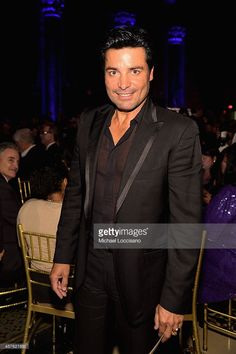 Singer Chayanne poses at the T.J. Martell Foundation's 39th Annual New York Honors Gala at Cipriani 42nd Street on October 21, 2014 in New York City.