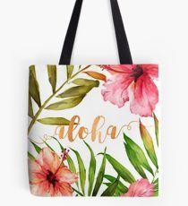 Hawaiian Tropical Floral Aloha Watercolor by Abigail Vigh