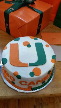 University Of Miami Cake Colleges Birthday Cakes And Miami
