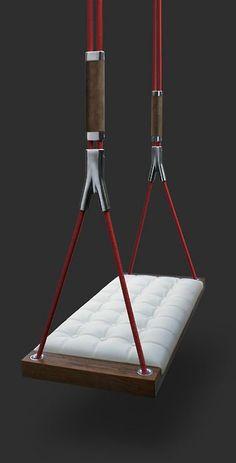 Swing £ 770 - Home Fashions Rattan Furniture, Unique Furniture, Furniture Design, Home Interior Design, Interior Decorating, Indoor Swing, Swing Seat, Italian Furniture, Swinging Chair