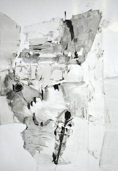 "Saatchi Art Artist Dorota Jedrusik; Drawing, ""ice 005"" #art"