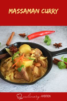 This Thai Massaman curry is a very mild, slightly sweet curry with Indian and Malaysian influences #massaman #curry #thaifood #mildcurry #foodie #FoodForThought #culinaryambition thaifood #currylover #veal #potato #peanuts Thai Massaman Curry, Thai Recipes, Food For Thought, Veggies, Healthy, Sweet, Candy, Vegetable Recipes, Vegetables