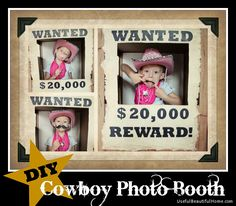DIY Cowboy Photo Booth from a Wardrobe Box