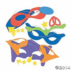 Superhero Mask Craft Kit…how many kids do you think we will have?