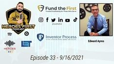 Edward Ayres of Inventor Process speaks with Robert Garland of Heroes First Podcast about the invention process to include patents, marketing, royalty negotiations and so much more. #herosfirst #podcast #inventors #patent #marketing #america #success #hero #inventormade #invention #patriot #police #teachers #winner #fun #lasvegas #vegas #ip #video #cool #socialmedia #knowledge #learn #grow #succeed #edwardayres Inventors, Garland, Vegas, Police, Royalty, The Creator, Knowledge, Success, Social Media