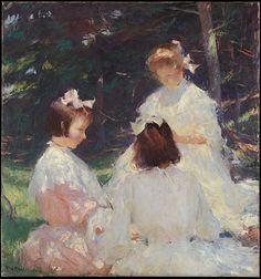 Frank W. Benson (American, 1862–1951). Children in Woods, 1905. The Metropolitan Museum of Art, New York. Bequest of Miss Adelaide Milton de Groot (1876–1967), 1967 (67.187.210) #MetKids