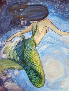 Watercolor Mermaid by kara-lija on deviantART