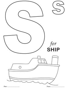 alphabet coloring pages My plans are to have them color one as