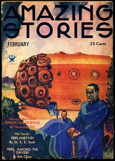 Amazing Stories, c. 1935. Cover art by Leo Morey.