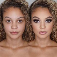 Makeup Lipstick, Eye Makeup, Hair Makeup, Party Makeup, Wedding Makeup, Blue Dress Makeup, Makeup Before And After, Power Of Makeup, Formal Makeup