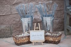 creative idea - matches for sparklers double as wedding favors