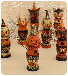 Halloween-Egg-Cups by Johanna Parker Design, via Flickr