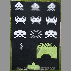 The Invasion (Based on Space Invaders) PDF Pattern No. 032 (carolina patchworks)