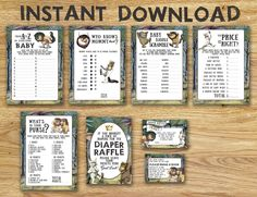 Baby Shower Games Package - Where The Wild Things Are // Instant Download - Available Immediately! by BabyCollarPrintables on Etsy https://www.etsy.com/listing/490920227/baby-shower-games-package-where-the-wild