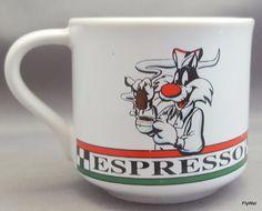Acme Home Works Warner Bros Looney Tunes Sylvester Espresso Cup 1993 #WarnerBros