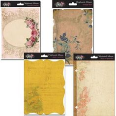 Decorative Chipboard Albums  Vintage style book covers for creating gorgeous albums
