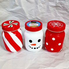 Hand Painted Holiday Mason Jars van ChristysCreations000 op Etsy